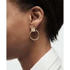 Jenny bird Faye knocker earring gold